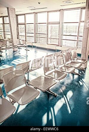 Retro-gefilterte Bild der Warteraum. - Stockfoto