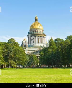 St. Petersburg, Russland - 3. Juli 2012: Kathedrale St. Isaaks - Stockfoto