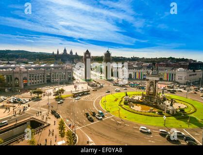 Placa de Espanya, Barcelona. Spanien - Stockfoto