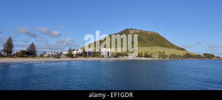 Landschaft des Mount Maunganui in der Bay of Plenty Neuseelands. - Stockfoto