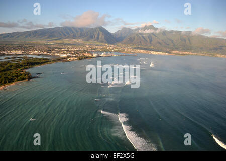 Luftaufnahme von Kahului, Maui, Hawaii - Stockfoto