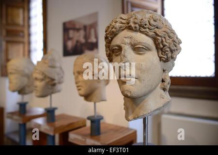 Rom. Italien. Museo di Scultura Antica Giovanni Barracco. Kopf des Apollo, Römische Kopie eines griechischen Originals - Stockfoto