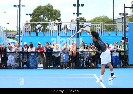 Melbourne, Australien. 28. Januar 2015. Kei Nishikori (JPN) Tennis: Australian Open Tennisturnier 2015 Training - Stockfoto