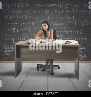 Vintage Mathelehrer - Stockfoto