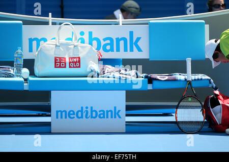 Melbourne, Australien. 28. Januar 2015. Gesamtansicht Tennis: 2015 Australian Open Tennis Turnier Herren Viertelfinale - Stockfoto