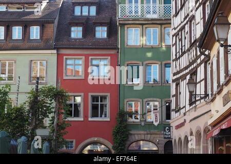 Straße Fassade, Straßburg, Frankreich. - Stockfoto