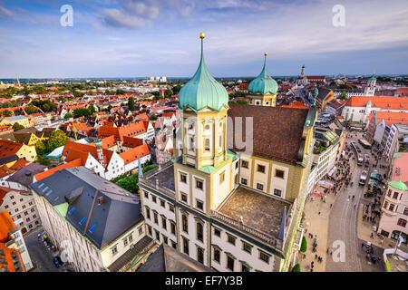 Augsuburg, Deutschland Skyline der Stadt. - Stockfoto