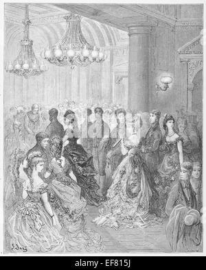 Ein Ball im Mansion House - Dore London - Stockfoto