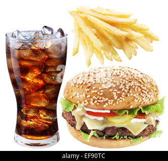 hamburger pommes frites und cola stockfoto bild 73194347 alamy. Black Bedroom Furniture Sets. Home Design Ideas