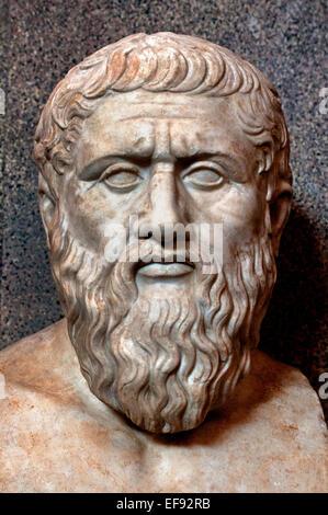 Platon Philosophen Philosophie griechischer Mathematiker (Vatican Museum Rom-Italien) - Stockfoto