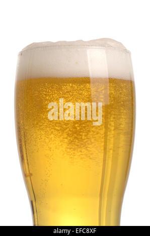 Glas Bier Nahaufnahme mit Schaum - Stockfoto