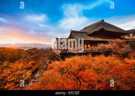 Herbst Farbe in Kiyomizu-Dera-Tempel in Kyoto, Japan - Stockfoto