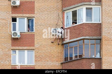 Alte wand montierten fenster klimaanlage stockfoto bild for Wand klimaanlage