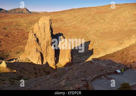 Felsformation im Teide-Nationalpark, Teneriffa, Kanarische Inseln, Spanien - Stockfoto