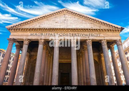 Im Inneren des Pantheon, Rom, Italien. - Stockfoto