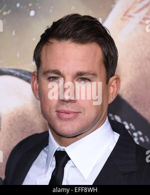 """Hollywood, Kalifornien, USA. 2. Februar 2015. Channing Tatum kommt für die Premiere des Films """"Jupiter Ascending"""" - Stockfoto"""