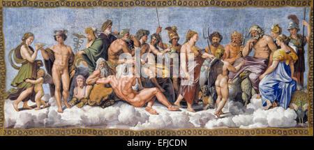 Die Götter des Olymp von Raphael¡s Schule - Stockfoto
