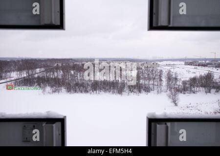 Moskau. 5. Februar 2015. Foto aufgenommen am 5. Februar 2015, zeigt das Gebäude im Bau des Innovation Center Skolkovo - Stockfoto