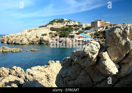 Der Ferienort Cala Lliteras in Mallorca, Spanien - Stockfoto