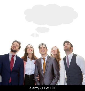 Business-Team mit Ideen brainstorming gedacht Wolke - Stockfoto