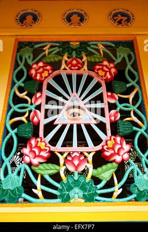 Cao Dai Tempel in Tay Ninh, Vietnam. - Stockfoto