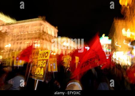Demonstration gegen PEGIDA am Opernring, Innere Stadt, Wien, Österreich - Stockfoto