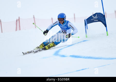 Sierra Nevada, Granada, Spanien. 12. Februar 2015. Shinya Miyamoto (JPN), 12. Februar 2015 - Ski Alpin: 27. Winter - Stockfoto