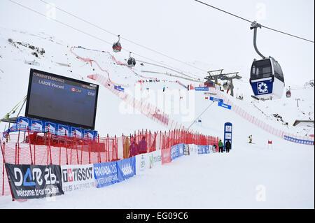 Sierra Nevada, Granada, Spanien. 12. Februar 2015. Gesamtansicht, 12. Februar 2015 - Ski Alpin: 27. Winter Universiade - Stockfoto