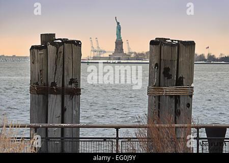 USA, Staat New York, New York City, Manhattan, Statue of Liberty - Stockfoto