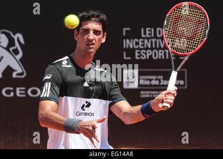 Rio De Janeiro, Brasilien. 13. Februar 2015. Brasilianische Spieler Thomaz Bellucci in der zentralen Gericht Jockey - Stockfoto