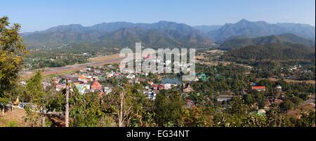 Die Stadt Mae Hong Son, Nord-Thailand - Stockfoto