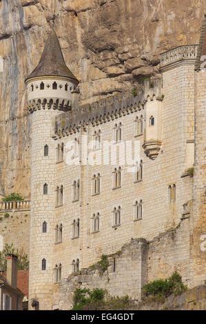 Rocamadour, Lot, Midi-Pyrenäen, Frankreich. - Stockfoto