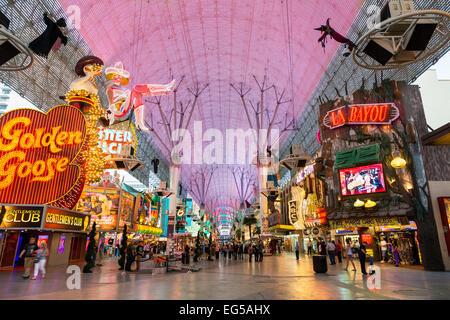 USA, Nevada, Las Vegas, die Innenstadt von alten Las Vegas, Fremont Street - Stockfoto