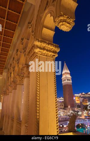 KREUZGANG LAGUNE VENEDIG HOTEL CASINO STRIP LAS VEGAS NEVADA USA - Stockfoto