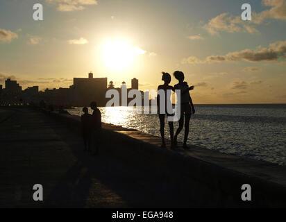 Havanna Vieja, Altstadt, Malecon, Kuba, Havanna - Stockfoto