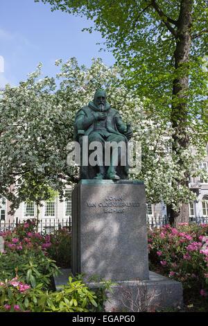 Johan van Oldenbarnevelt Denkmal in den Haag (Den Haag), Holland, Niederlande. - Stockfoto