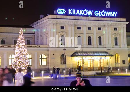 Krakow Glowny Bahnhof - Stockfoto