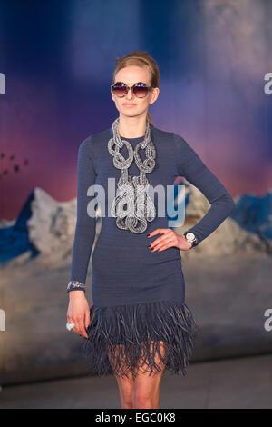 London, UK. 22. Februar 2015.  ÉTHOLOGIE von Jasper Garvida auf der LONDON Fashionweek. 22.02.2015 ÉTHOLOGIE Modenschau - Stockfoto