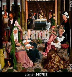 Der Heilige Verwandtschaft 1495 niederländische Maler Geertgen tot Sint Jans 1460 nach 1490 Leiden Niederlande - Stockfoto