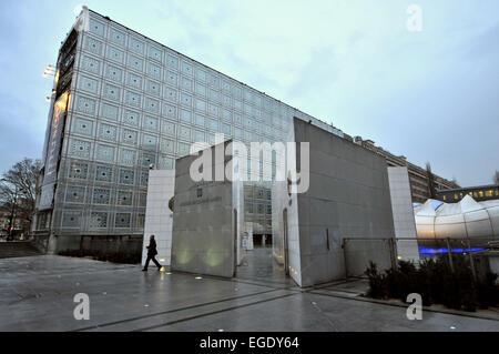 Institut du Monde Arabe, Quartier Latin, Paris, Frankreich - Stockfoto