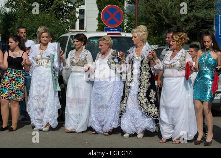 Albanische Hochzeit, Dragash - Stockfoto