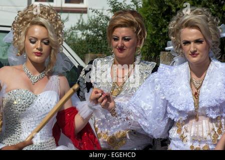 Frauen, albanische Hochzeit, Dragash - Stockfoto