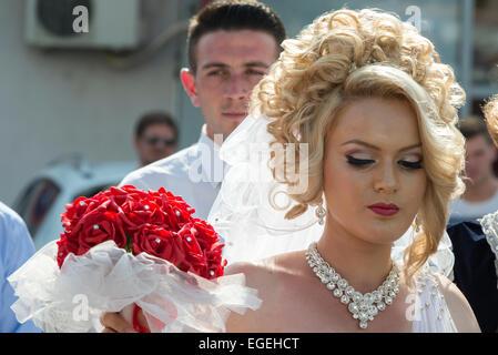 Die Braut, albanische Hochzeit, Dragash - Stockfoto