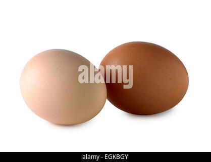 braun weißes Ei Ei - Stockfoto