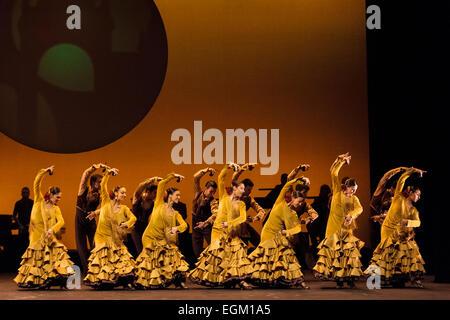 London, UK. 26. Februar 2015. Ballet Nacional de España / Direktor Antonio Najarro Grito & Suite Sevilla am Sadler - Stockfoto