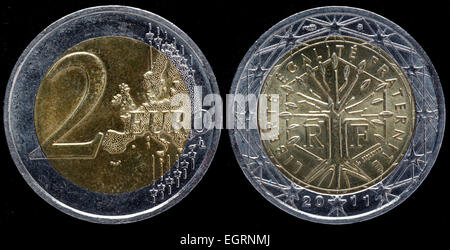 2 Euro Münze 2011 Stockfoto Bild 33915520 Alamy