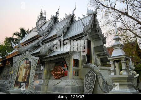 Wat Sri Suphan Silber Tempel in Chiang Mai, Thailand - Stockfoto