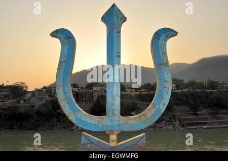 Heilige Trident, Waffe des Hindu-Gottes Shiva - Stockfoto