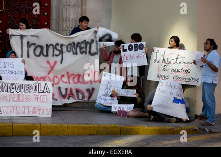 Universität Studentendemonstration, Merida, Yucatan, Mexiko - Stockfoto