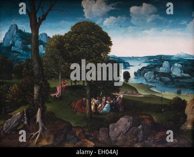 ActiveMuseum 0003791.jpg / Landschaft mit Johannes dem Täufer predigt 23.02.2014 - / 16. Jahrhundert Sammlung / aktive Museum